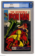 Silver Age (1956-1969):Superhero, Iron Man #2 (Marvel, 1968) CGC NM+ 9.6 Off-white to white pages. This second issue of the title features the first appearanc...