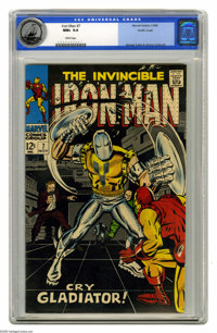 Iron Man #7 (Marvel, 1968) CGC NM+ 9.6 White pages. Iron Man faces the Gladiator as well as the Maggia. George Tuska cov...