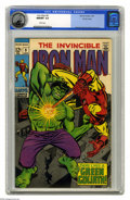Silver Age (1956-1969):Superhero, Iron Man #9 Pacific Coast pedigree (Marvel, 1969) CGC NM/MT 9.8White pages. Iron Man takes on an android disguised as the H...