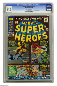 Marvel Super Heroes #1 (Marvel, 1966) CGC NM+ 9.6 Off-white pages. First Marvel one-shot. Reprints stories from Daredevi...