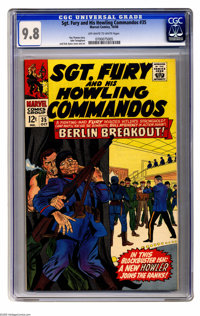 Sgt. Fury and His Howling Commandos #35 (Marvel, 1966) CGC NM/MT 9.8 Off-white to white pages. Eric Koenig joins the How...