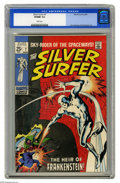 Silver Age (1956-1969):Superhero, The Silver Surfer #7 (Marvel, 1969) CGC VF/NM 9.0 White pages. First Marvel Universe appearance of Frankenstein's monster. J...