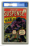 """Silver Age (1956-1969):Horror, Tales of Suspense #9 (Marvel, 1960) CGC NM- 9.2 Cream to off-whitepages. """"He Lives!! The Demon from the Fifth Dimension!! '..."""