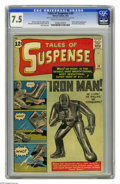 Silver Age (1956-1969):Superhero, Tales of Suspense #39 (Marvel, 1963) CGC VF- 7.5 Cream to off-whitepages. The invincible Iron Man made his first appearance...