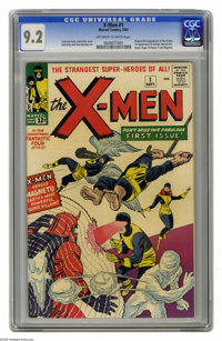 X-Men #1 (Marvel, 1963) CGC NM- 9.2 Off-white to white pages. The X-Men are the most popular superhero group around, and...