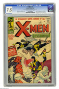 Silver Age (1956-1969):Superhero, X-Men #1 (Marvel, 1963) CGC VF- 7.5 Cream to off-white pages. Theorigin and first appearance of the X-Men makes this one of...