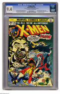 Bronze Age (1970-1979):Superhero, X-Men #94 (Marvel, 1975) CGC NM 9.4 Off-white to white pages. Thisissue had key events aplenty. Not only was it the second ...