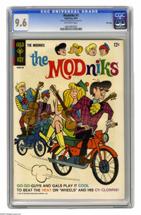 """Modniks #1 File Copy (Gold Key, 1967) CGC NM+ 9.6 Off-white pages. First of only two """"go-go"""" issues. Overstree..."""