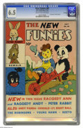 Golden Age (1938-1955):Cartoon Character, New Funnies #65 File Copy (Dell, 1942) CGC FN+ 6.5 Cream tooff-white pages. Dell's early strip reprint (for the most part) ...