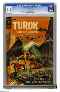 Turok Son of Stone #52 File Copy (Gold Key, 1966) CGC NM 9.4 Off-white pages. Painted dinosaur cover. Alberto Giolitti s...