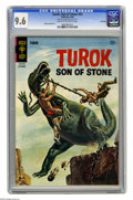 Silver Age (1956-1969):Science Fiction, Turok Son of Stone #53 File Copy (Gold Key, 1966) CGC NM+ 9.6 Cream to off-white pages. Great dinosaur painted cover. Albert...