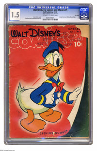 Walt Disney's Comics and Stories #1 File Copy (Dell, 1940) CGC FR/GD 1.5 Off-white to white pages. Here is the first iss...