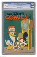 Golden Age (1938-1955):Funny Animal, Walt Disney's Comics and Stories #28 File Copy (Dell, 1943) CGC VF-7.5 Cream to off-white pages. Featuring a New Year's Day...