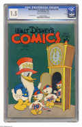 Golden Age (1938-1955):Funny Animal, Walt Disney's Comics and Stories #28 File Copy (Dell, 1943) CGCFR/GD 1.5 Cream to off-white pages. With its bright, glossy ...