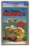 Golden Age (1938-1955):Funny Animal, Walt Disney's Comics and Stories #57 File Copy (Dell, 1945) CGC VF-7.5 Cream to off-white pages. Walt Kelly cover; Donald D...