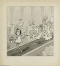 Original Comic Art:Panel Pages, Marge Buell - The First Little Lulu Panel Page Original Art, dated2-23-35 (Saturday Evening Post, 1935). Imagine the high-v...