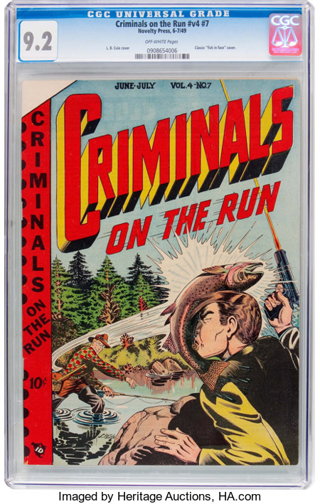 Criminals on the Run V4#7 (Novelty Press, 1949) CGC NM- 9.2 Off-white pages....