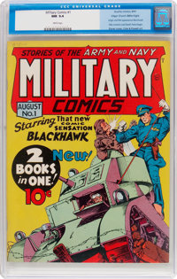 Military Comics #1 Mile High Pedigree (Quality, 1941) CGC NM 9.4 White pages