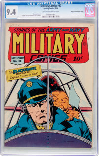 Military Comics #32 Mile High Pedigree (Quality, 1944) CGC NM 9.4 Off-white to white pages