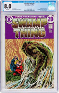 Bronze Age (1970-1979):Horror, Swamp Thing #1 (DC, 1972) CGC VF 8.0 White pages....