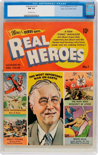 Real Heroes Comics #1 Mile High Pedigree (Parents' Magazine Institute, 1941) CGC NM 9.4 Off-white pages