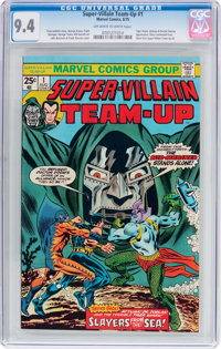 Super-Villain Team-Up #1 (Marvel, 1975) CGC NM 9.4 Off-white to white pages