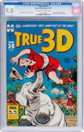 Golden Age (1938-1955):Adventure, True 3-D #1 (Harvey, 1953) CGC VF/NM 9.0 Cream to off-white pages....