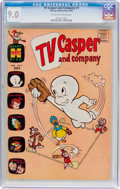 Silver Age (1956-1969):Cartoon Character, TV Casper and Company #1 (Harvey, 1963) CGC VF/NM 9.0 Off-white to white pages....