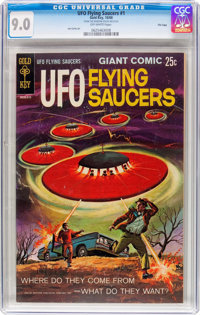 UFO Flying Saucers #1 File Copy (Gold Key, 1968) CGC VF/NM 9.0 Off-white pages