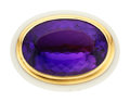 Estate Jewelry:Rings, Amethyst, Chalcedony, Rose Gold Ring, Sanalitro. ...