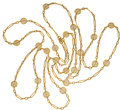 Estate Jewelry:Necklaces, Antique Gold Necklace, French. ...