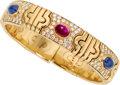 Estate Jewelry:Bracelets, Ruby, Sapphire, Diamond, Gold Bracelet, Bvlgari. ...