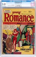 Golden Age (1938-1955):Romance, Young Romance Comics #1 (Prize, 1947) CGC GD/VG 3.0 Cream to off-white pages....