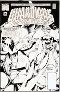 Original Comic Art:Covers, Kevin West and Steve Montano Guardians of the Galaxy #56Original Cover Art (Marvel, 1995)....