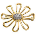 Estate Jewelry:Brooches - Pins, Diamond, Platinum, Gold Brooch, Paloma Picasso for Tiffany & Co.. ...