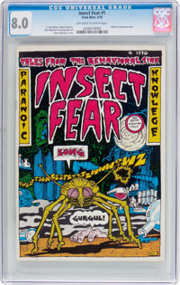 Insect Fear #1 (Print Mint, 1970) CGC VF 8.0 Off-white to white pages