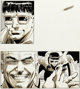 Frank Miller and Klaus Janson Amazing Spider-Man Annual #15 Pages 19 and 29 Spot Illustrations Doctor Octopus Orig