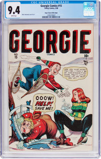 Georgie Comics #15 Mile High Pedigree (Timely, 1948) CGC NM 9.4 White pages
