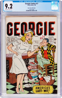Georgie Comics #17 Mile High Pedigree (Timely, 1948) CGC NM- 9.2 Off-white to white pages