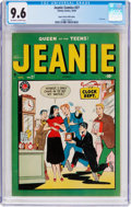 Golden Age (1938-1955):Humor, Jeanie Comics #27 Mile High Pedigree (Marvel/Atlas, 1949) CGC NM+ 9.6 Off-white to white pages....