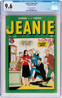 Jeanie Comics #27 Mile High Pedigree (Marvel/Atlas, 1949) CGC NM+ 9.6 Off-white to white pages