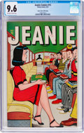 Golden Age (1938-1955):Humor, Jeanie Comics #15 Mile High Pedigree (Marvel/Atlas, 1947) CGC NM+ 9.6 Off-white to white pages....
