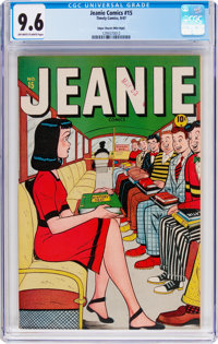 Jeanie Comics #15 Mile High Pedigree (Marvel/Atlas, 1947) CGC NM+ 9.6 Off-white to white pages