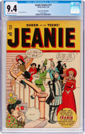 Golden Age (1938-1955):Humor, Jeanie Comics #17 Mile High Pedigree (Marvel/Atlas, 1948) CGC NM 9.4 Off-white to white pages....