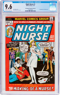 Night Nurse #1 Don and Maggie Thompson Collection Pedigree (Marvel, 1972) CGC NM+ 9.6 Off-white to white pages