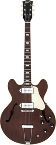 Musical Instruments:Electric Guitars, 1969 Gibson ES-330 Walnut Semi-Hollow Body Electric Guitar, Serial # X 309054....