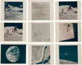 """Explorers:Space Exploration, Apollo 15: Group of Nine NASA Original Color Photos including Seven """"Red Number"""" Images...."""