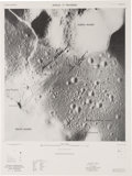 Explorers:Space Exploration, Apollo 17 NASA Traverses Lunar Photomap Signed by Mission Moonwalkers Cernan and Schmitt....