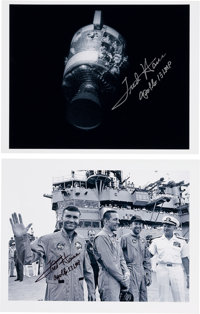 Fred Haise Signed Apollo 13 Photos (Two)