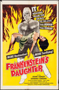 """Movie Posters:Horror, Frankenstein's Daughter (Astor Pictures, 1958). One Sheet (27"""" X41""""). Horror.. ..."""